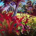 "Gaguin in Hanalei 30"" X 30"" Atelier Acrylic on museum wrapped canvas"
