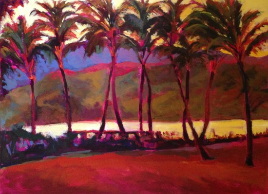 "Vintage Kauai 30"" X 40"" Acrylic on Canvas"