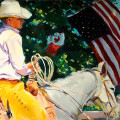 "California Cowboy 24"" x 36"" Oil on linen"