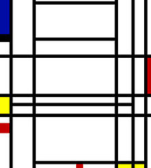 Piet Mondrian, Composition 10, 1939–1942, private collection