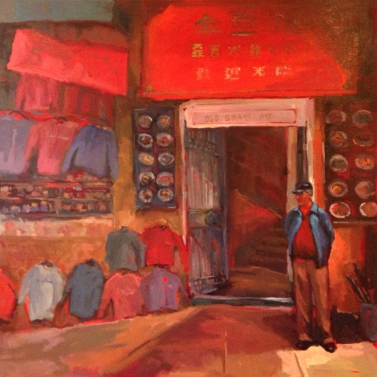 "Hong Kong Clay Pot, oil on museum wrapped canvas, 48"" x 48"""