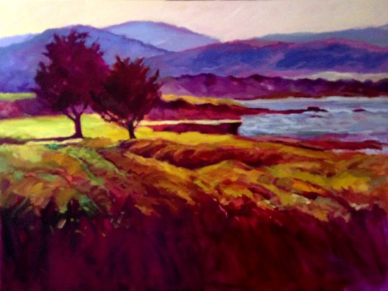 """View From the 18th Hole, Oil on canvas 36"""" x 48"""""""