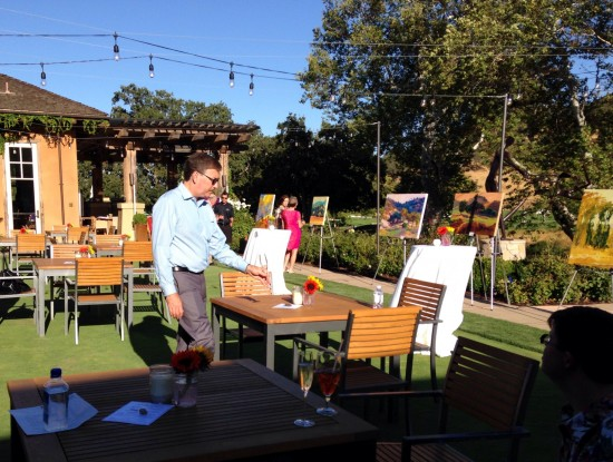 Wine and Art on the Oak Terrace CordeValle