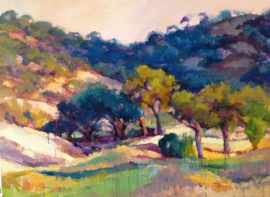 "View From Il Vigneto Sold 30"" x 40"" oil and acrylic"