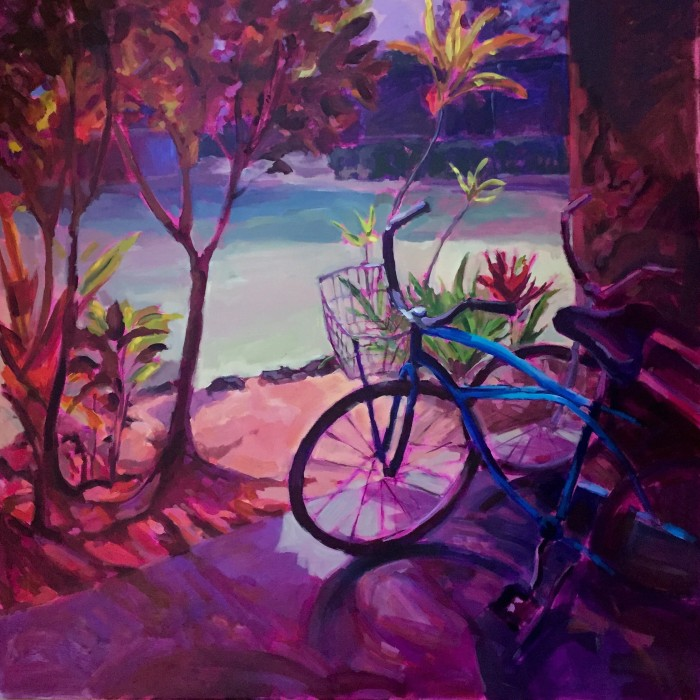 """Bicycle Memories"" 36"" x 36"" acrylic on gallery wrapped canvas $3240"