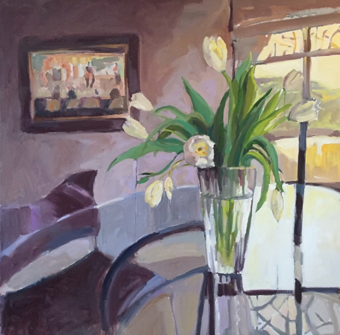 """In Memory of Ken Auster 36"""" X 36"""" oil on gallery wrap canvas $3888.00"""
